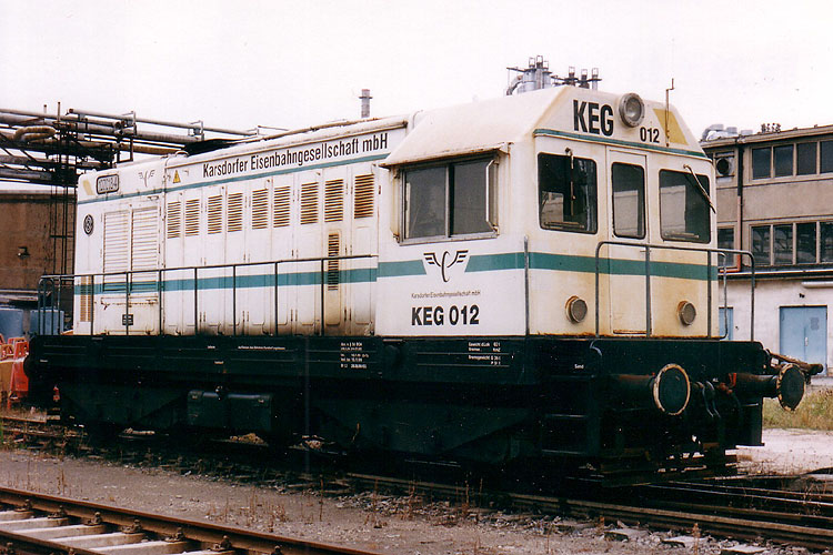 KEG 012 (ex DR 107 018-4) am 05.09.1999 in Karsdorf. (Foto: Mathias Bootz)