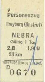 fahrkarten/35851/fahrkarte-von-freyburg-unstrut-nach-nebra Fahrkarte von Freyburg (Unstrut) nach Nebra; 1987 (von: Mario Fliege)