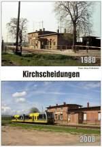 vergleichsbilder/161940/vergleichsbild-vom-bahnhof-kirchscheidungen-aus-den Vergleichsbild vom Bahnhof Kirchscheidungen aus den Jahren 1980 und 2008. (Foto: Klaus Pollmächer)