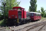 EBS 345 029-3 + 772 345-5 am 02.07.2015 in Karsdorf.